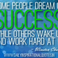 Don't Be A Dreamer, Be A Doer of Success!