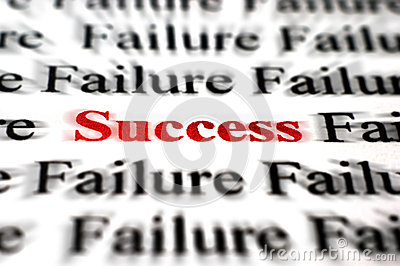 success-amongst-failure-closeup-detail-black-white-words-red-word-32971975