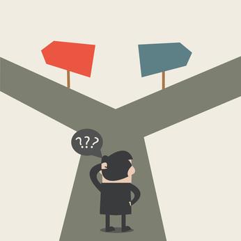 Businessman do not know where to go