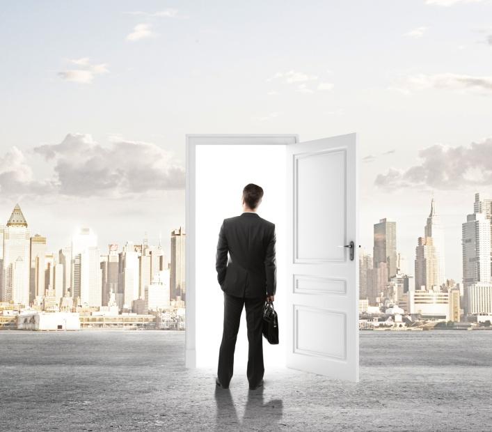 door in city